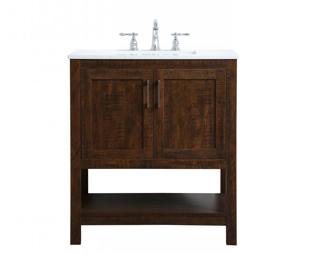 30 Inch Single Bathroom Vanity In Espresso Vf16030ex York Lighting